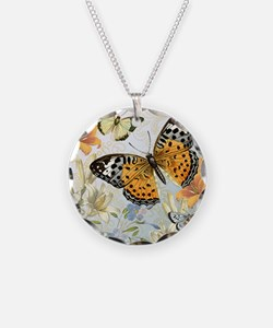 MODERN VINTAGE french butterfly Necklace