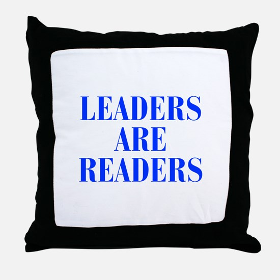 leaders-are-readers-BOD-BLUE Throw Pillow