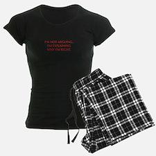 IM-NOT-ARGUING-OPT-RED Pajamas