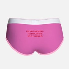IM-NOT-ARGUING-OPT-RED Women's Boy Brief