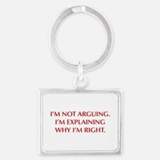 IM-NOT-ARGUING-OPT-RED Keychains