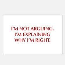 IM-NOT-ARGUING-OPT-RED Postcards (Package of 8)