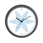 Flurry Snowflake XIV Wall Clock