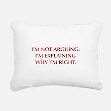 IM-NOT-ARGUING-OPT-RED Rectangular Canvas Pillow