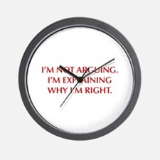 IM-NOT-ARGUING-OPT-RED Wall Clock