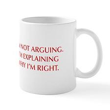 IM-NOT-ARGUING-OPT-RED Mugs