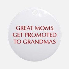 great-moms-OPT-RED Ornament (Round)