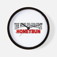 """The World's Greatest Honeybun"" Wall Clock"