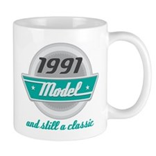 1991 Birthday Vintage Chrome Mug