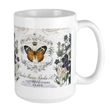 MODERN VINTAGE french butterfly garden Mugs