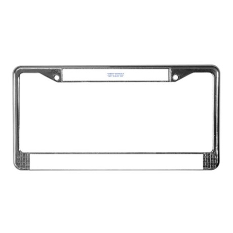 EARTH-WITHOUT-ART-OPT-BLUE License Plate Frame