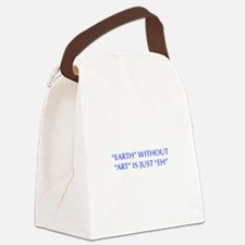 EARTH-WITHOUT-ART-OPT-BLUE Canvas Lunch Bag