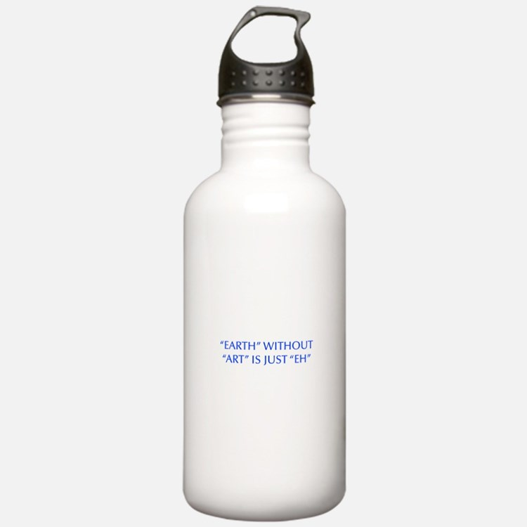 EARTH-WITHOUT-ART-OPT-BLUE Water Bottle
