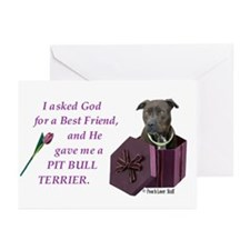 Pit Bull Terrier Greeting Cards (Pk of 10)
