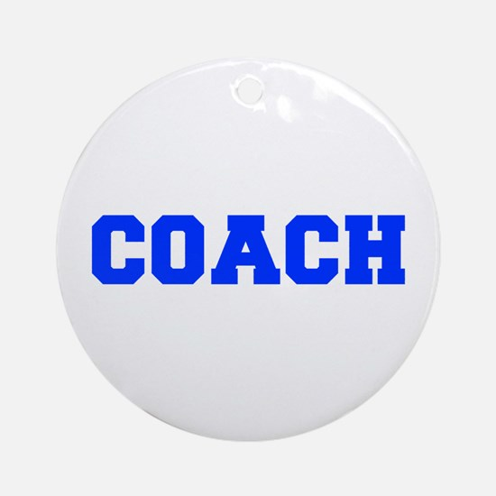 COACH-FRESH-BLUE Ornament (Round)