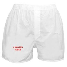 6-MONTHS-SOBER-BOD-RED Boxer Shorts