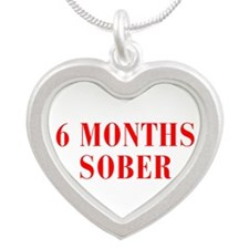 6-MONTHS-SOBER-BOD-RED Necklaces