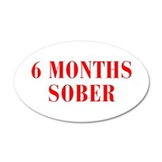 6-MONTHS-SOBER-BOD-RED Wall Decal