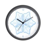 Flurry Snowflake XV Wall Clock