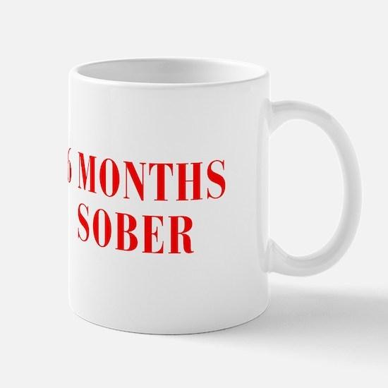 6-MONTHS-SOBER-BOD-RED Mugs