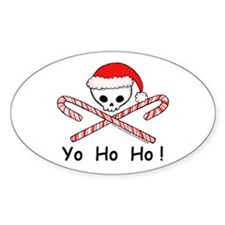x-mas pirate Oval Decal