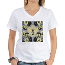 MODERN VINTAGE french pansies and bee T-Shirt