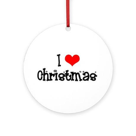i heart christmas Ornament (Round)