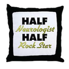 Half Neurologist Half Rock Star Throw Pillow