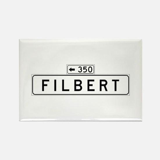 Filbert Street, San Francisco - USA Rectangle Magn