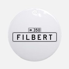 Filbert Street, San Francisco - USA Ornament (Roun