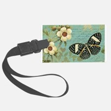 Modern vintage french butterfly postcard Luggage T