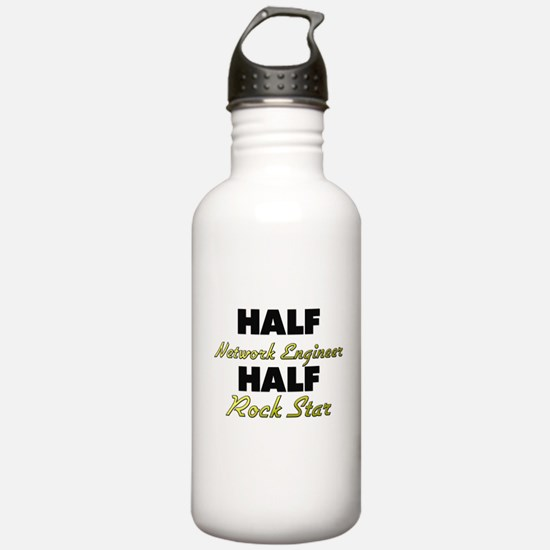 Half Network Engineer Half Rock Star Water Bottle