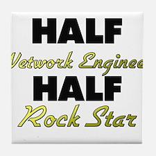 Half Network Engineer Half Rock Star Tile Coaster