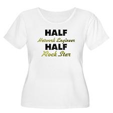 Half Network Engineer Half Rock Star Plus Size T-S