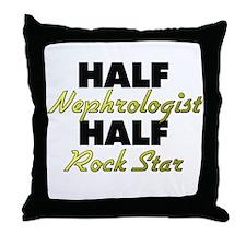 Half Nephrologist Half Rock Star Throw Pillow