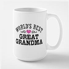 World's Best Great Grandma Ceramic Mugs