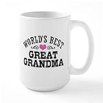 World's Best Great Grandma Large Mug