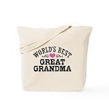 Great grandma Canvas Totes