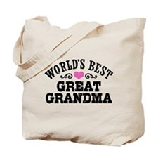 World's Best Great Grandma Tote Bag