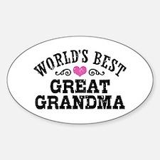 World's Best Great Grandma Decal