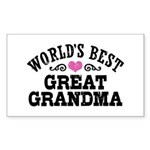 World's Best Great Grandma Sticker (Rectangle)