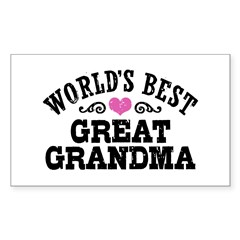 World's Best Great Grandma Sticker (Rectangle)