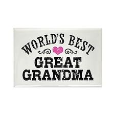 World's Best Great Grandma Rectangle Magnet