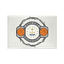 Rhode Island Basketball Rectangle Magnet