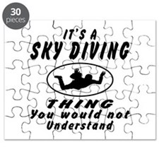 Sky diving Thing Designs Puzzle