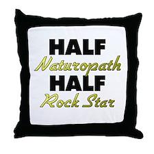 Half Naturopath Half Rock Star Throw Pillow