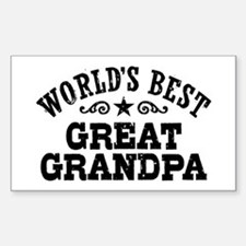 World's Best Great Grandpa Sticker (Rectangle)