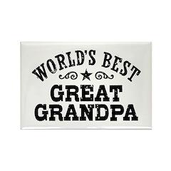 World's Best Great Grandpa Rectangle Magnet