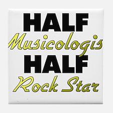 Half Musicologist Half Rock Star Tile Coaster