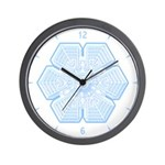 Flurry Snowflake XVI Wall Clock
